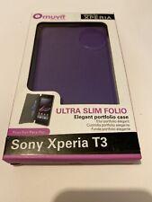 🤩 coque protectio téléphone sony xperia t3 ultra slim folio portfolio case