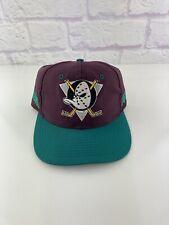 Vintage 1990's Anaheim Mighty Ducks Snapback Nhl Hat Cap Disney Vtg 90s
