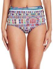 Roxy Women's Cuba High Waist Bikini Bottom, Salsa Super Duper Legit, SZ M