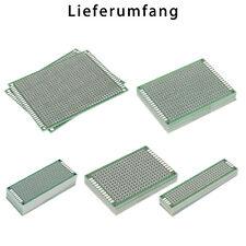 Modellbauplatine Lochraster Doppelseitig Lötstoplack 2x8cm FR4 PCB2x8