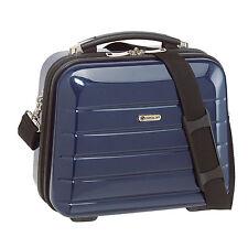 Beautycase Kosmetikkoffer Schminkkoffer Beauty Case London carbon-blau