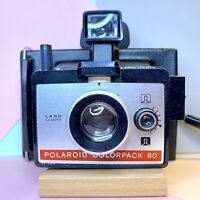 BOXED VINTAGE POLAROID INSTANT LAND CAMERA COLOUR PACK 80 Lomo, Prop, Display