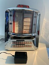 Jukemaster 100 by Tyrell retro table top juke box, diner juke box EXCELLENT WORK
