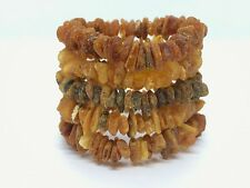 Lot 5 Natural Baltic Amber Raw rough unpolished healing bracelet set 52 g #3458