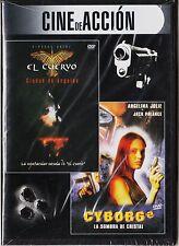 EL CUERVO. CIUDAD DE ÁNGELES y CYBORG 2. España: tarifa plana envíos DVD, 5 €