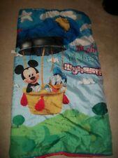 Vintage Disney Mickey, Donald Duck child sleeping bag