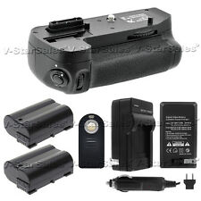 Battery Grip For Nikon D7200 + 2x EN-EL15 Batteries + Charger + Universal Remote