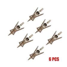 "6Pcs New Silver Archery SlipCam Hypodermic Broadheads 2 Blade 100Grain 2.3"" Cut"