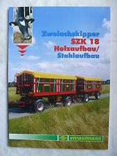 0260) STRAUTMANN - Zweiachskipper SZK 18 - Prospekt Brochure 05.2010