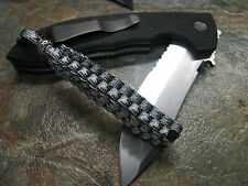 PARACORD URBAN CAMO SQUARE KNOT KNIFE LANYARD SILVER BEAD AMERICAN MADE