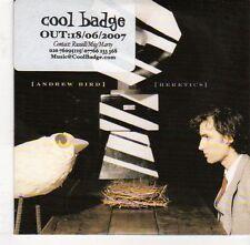 (EJ497) Andrew Bird, Heretics - 2007 DJ CD