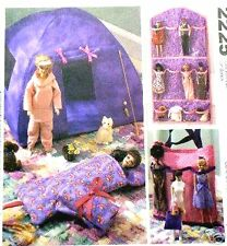 "Reduced!  McCall's 2225 OOP 11½"" Fashion Doll Camping & Organizer Pattern"