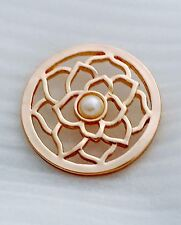 ROSE GOLD Open Pearl 33mm Coin for Coin Keepers/Moneda/Milano/Lissoni/Carrier