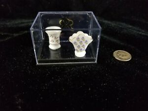 1:12 Dollhouse Miniature~Lovely Reutter German Porcelain~Vase Set! NRFB