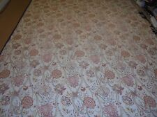 Nice Cream & Rust Red Printed Floral Pattern Quilt