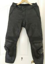Dainese Black Leather Pants Track Race with Knee Pads/ Sliders. Size 52