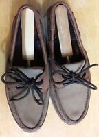 Men's Sperry Top-Sider Two Tone Brown Leather Shoe's Size 8.5M