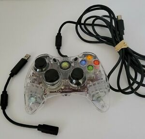 Afterglow XBOX 360 Wired Controller Model PL-3602 Clear Case