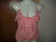womans striped frilled strappy top from river island size 6 has some light bobbl