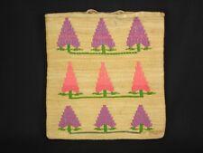 A Nez Perce corn husk bag with trees, Native American Indian, c1920
