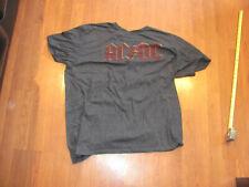 AC/DC Logo T Shirt XL Heather Gray Extra Large classic rock