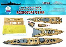 Shipyard 1/700 700106 Wood Deck HMS Battleship Agincourt for Flyhawk