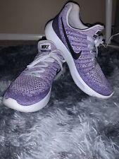 Women's Nike LunarEpic Flyknit 2 Purple Speckle Size 7 Black Logo White Sole