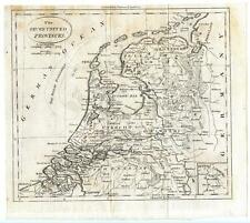 1789 Thomas & Andrews Copper Engraving Map 7 United Provinces Netherlands Dutch