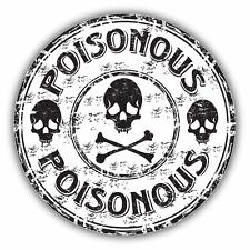 "Poison Skull Crossbones Grunge Rubber Stamp Car Bumper Sticker Decal 5"" x 5"""