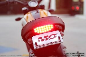 fit 2015-2018 Ducati Scrambler SEQUENTIAL Turn Signal LED Tail Light SMOKE LENS