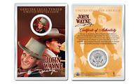 JOHN WAYNE - Duke OFFICIAL JFK Half Dollar U.S. Coin in PREMIUM HOLDER