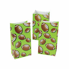 Football Treat Bags - Party Supplies - 12 Pieces
