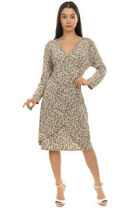 RRP€290 PME PESERICO Sheath Dress Size 50 2XL Two Tone Pattern Crossover Pleated