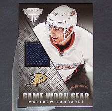 MATTHEW LOMBARDI  Jersey  2013/14 Titanium Game Worn Gear #GGMLO Anaheim Ducks