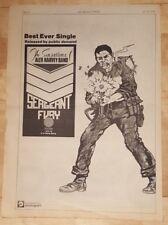 SENSATIONAL ALEX HARVEY BAND FURY 1974 Edición anuncio completo Páginas 26 x