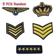 Patch bordado Bordado Decoración de prendas Applique militar Rango Emblem