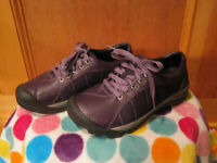 Womens KEEN Presidio Hiking Shoes Leather Athletic Sneakers 1017947 PURPLE 7.5