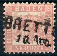 Baden,Lot  für Stempelsammler Mi.-Nr.18o BRETTEN  pracht, 18o 177- fein