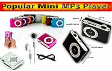 Populare Silber Clip Mini MP3 Player b.8GB Micro SD Karte Clip Funktion ALU K2
