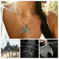 Bohemian Beach Mermaid Fishtail Pendant Necklace Sweater Chain Beauty Jewelry
