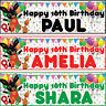 2 x personalized birthday banner party bing Bunny boys girls any name ages
