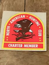 North American Hunting Club Charter Member Eagle Vintage Sticker