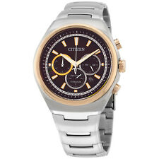 Citizen Eco Drive Brown Dial Titanium Men's Watch CA402453W