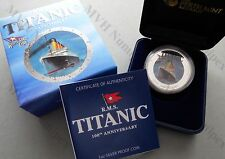Tuvalu 2012 1 Dollar 100 Jahre RMS Titanic White Star Line 1Oz Silber PP Proof