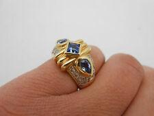 $3695 Brand New Heavy Designer LeVian 14k Solid Gold Tanzanite & Diamond Ring