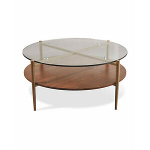 Kirkton House Large Coffee Table Living Room Tempered Glass Tea Table