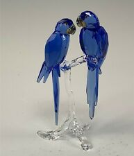 Swarovski Crystal Scs 2014 Figurine, Pair Hyacinth Macaws Birds #5004730 in Box