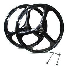 "26"" MTB Mountain Bike Mag Wheel Set Wheelset Rims Disc Brake 6/7 Speed Gear"