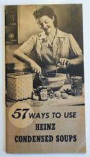 1944 Original Vintage Heinz Condensed Soups Recipe Booklet