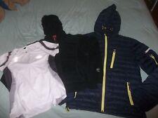 LOT 3 Marmot Fleece Hoodie Hoody Blue & North Face Jacket White & Down Coat Pink